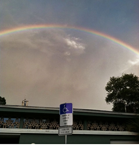 Double Rainbow over Trinity