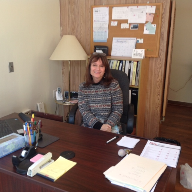 Susan in the new TUCC Office
